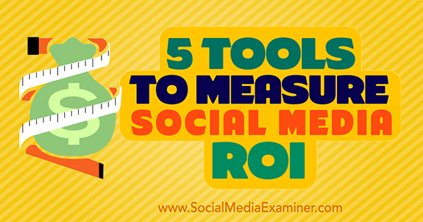 5 Tools to measure ROI